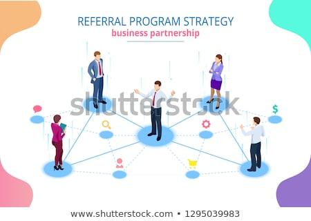 Referral Marketing - Concept on Laptop Screen. Stock photo © tashatuvango