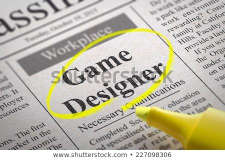 We are Hiring Game Designer. Stock photo © tashatuvango