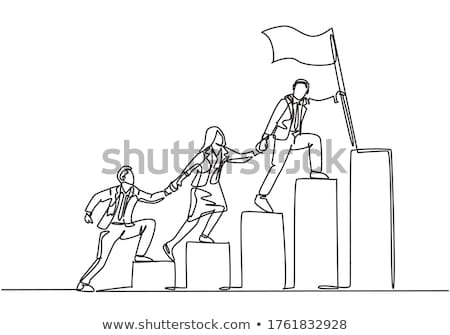 A business group holding flags Stock photo © IS2