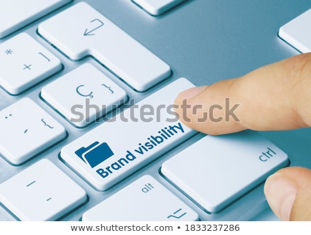 Stock photo: Blue Be Unique Key On Keyboard