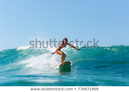 man and girl with surf stock photo © adrenalina