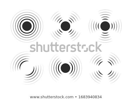 Segnale icona bianco illustrazione internet tecnologia Foto d'archivio © nickylarson974