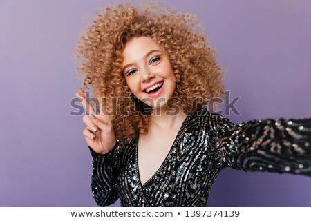 Black female top with sequin Stock photo © gsermek