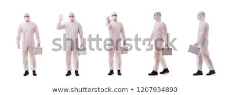 Costume acier cas médicaux fond masque Photo stock © Elnur