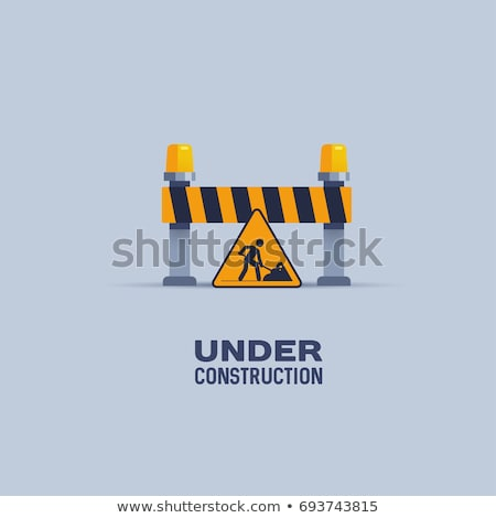 Bouwvakker weg plaats machine werk oranje Stockfoto © Kzenon