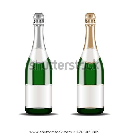 glas · champagne · geïsoleerd · witte · 3D - stockfoto © user_11870380