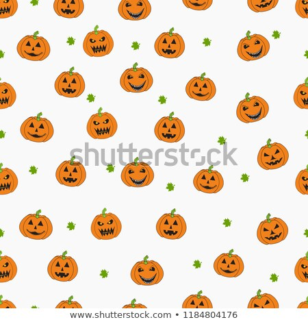 Laughing Halloween Pumpkin Seamless Pattern Stock photo © toffees