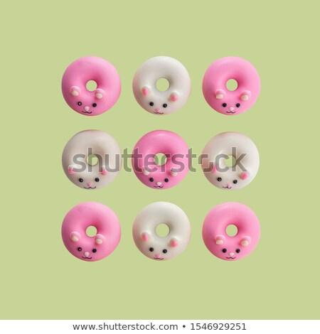 Klein donuts koffie houten partij levensmiddelen Stockfoto © Melnyk