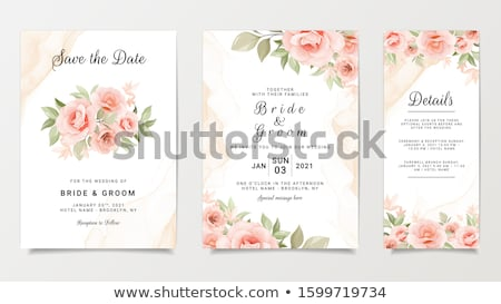 abstract geometric wedding card design Stock photo © SArts