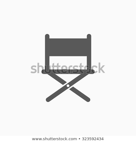 Yönetmen sandalye ikon ince hat dizayn Stok fotoğraf © angelp