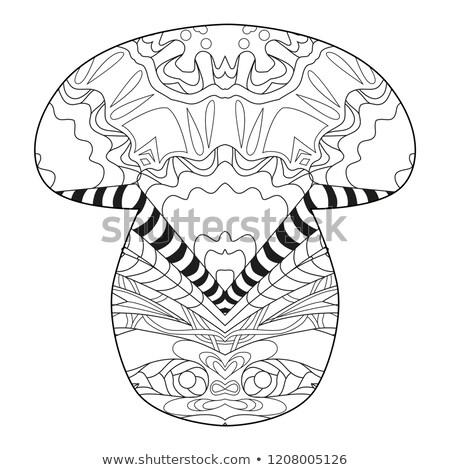 Stockfoto: Pagina · decoratie · kinderen · champignon · schone · lijnen