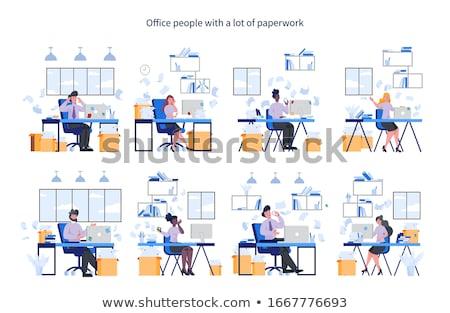 vector · establecer · Cartoon · negocios · mujer - foto stock © pikepicture