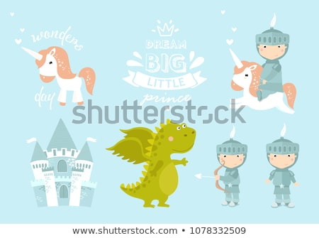Rajz mosolyog herceg fiú korona grafikus Stock fotó © cthoman