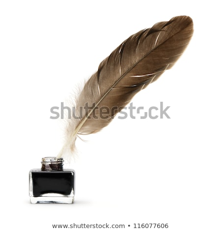 quill feather pen and ink well stock photo © krisdog
