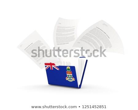 Folder with flag of cayman islands Stock photo © MikhailMishchenko