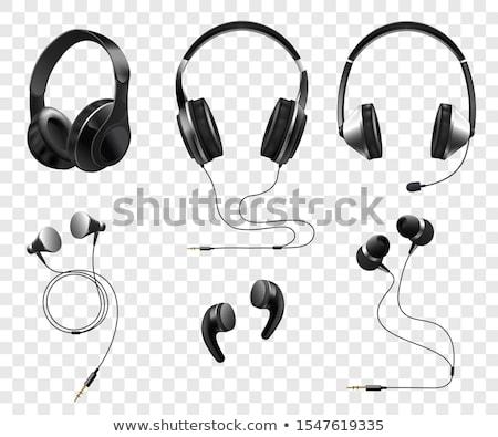 headphones set vector modern wireless audio stereo accessory volume isolated cartoon illustration stock photo © pikepicture