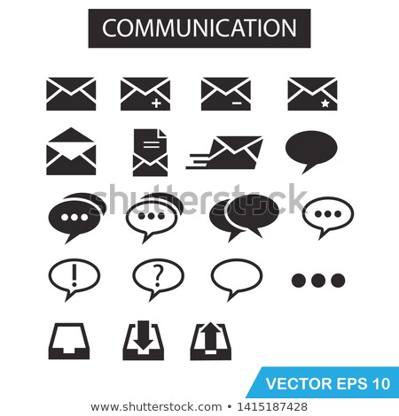 chatting emblem envelope with message vector icon stock photo © robuart