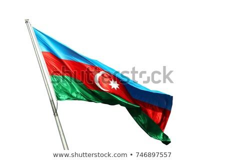 bandera · Azerbaiyán · banner · lienzo · textura · fondo - foto stock © daboost