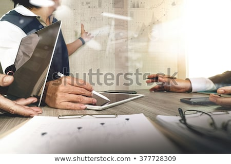 Business Strategy Presentation with Charts Data Stock photo © robuart