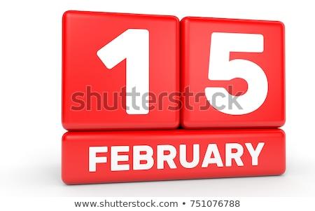 Cubes calendar 15th February Stock photo © Oakozhan
