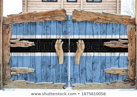 House with flag of botswana Stock photo © MikhailMishchenko