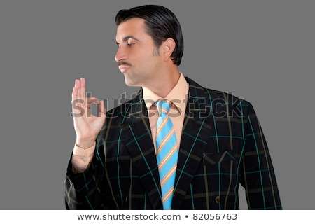salesman occupation tacky man ok gesture profile Stock photo © lunamarina