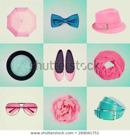 Winkelen meisje online winkelen objecten banner Stockfoto © makyzz