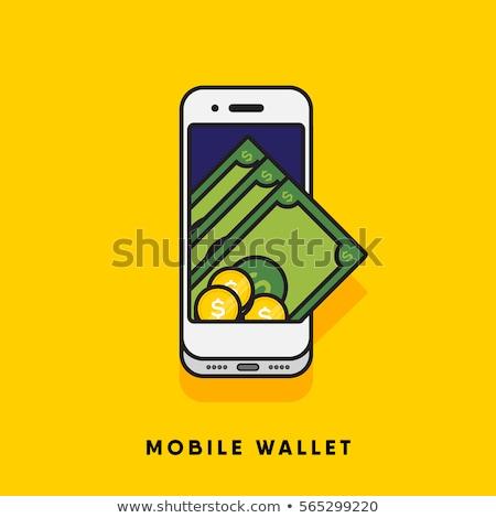 Geld portemonnee grafisch ontwerp sjabloon vector geïsoleerd Stockfoto © haris99