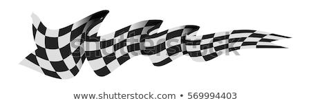 checkered race flag vector illustration isolated on white stock photo © m_pavlov