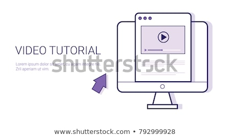 Video tutorial web banner concept. Stok fotoğraf © RAStudio