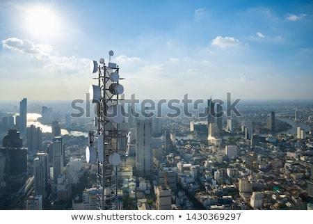 Tecnologia antena ilustração 3d internet comunicação acelerar Foto stock © limbi007