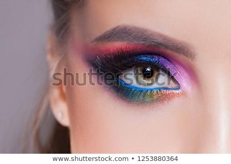 Schoonheid feestelijk make portret brunette meisje Stockfoto © lithian