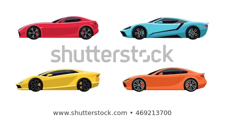 Cartoon sport car set isolated on white Stock photo © mechanik
