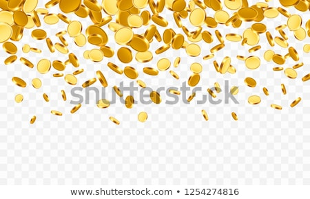 Foto stock: Moedas · de · ouro · transparente · dinheiro · projeto · metal · cassino