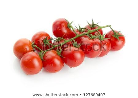 Fresco orgânico molhado tomates cereja monte isolado Foto stock © marylooo