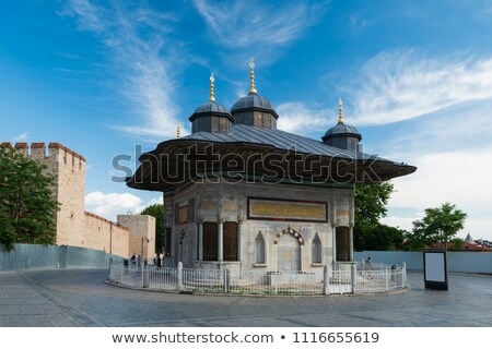fonte · istambul · turco · estrutura · praça - foto stock © borisb17