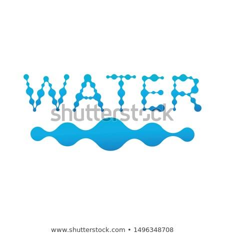 Bleu eau mot structure vague fluide Photo stock © kyryloff