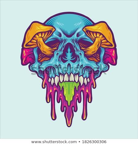 Halloween monster poster vector eps 10 Stockfoto © rwgusev