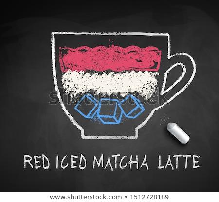 Vector sketch of Red Matcha Latte Stock photo © Sonya_illustrations