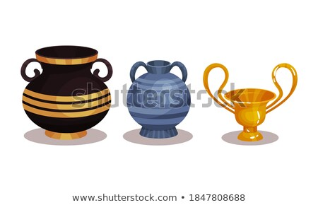 Terracotta Vessel, Crockery Container with Handle Stock photo © robuart