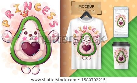 Prinses avocado poster vector eps 10 Stockfoto © rwgusev