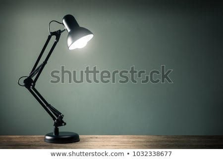 Zwarte bureau lamp geïsoleerd witte 3d illustration Stockfoto © make