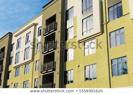Living Building in Village, Facade, Front Exterior Stock photo © robuart