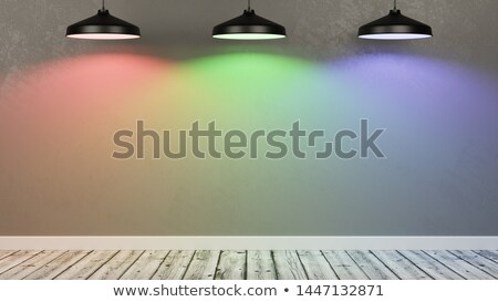 Muur lege kamer verlicht licht lampen Stockfoto © make