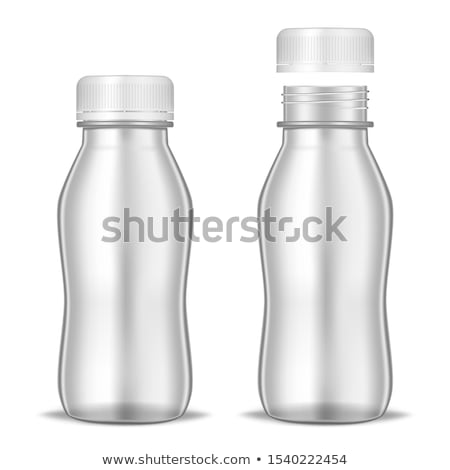 Small white plastic bottle with lid 3D Stock photo © djmilic