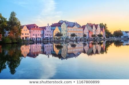 Rivier Duitsland kerk heilige geest huis Stockfoto © borisb17