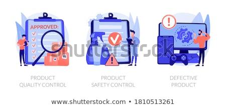 Producto fabricación resumen vector ilustraciones establecer Foto stock © RAStudio