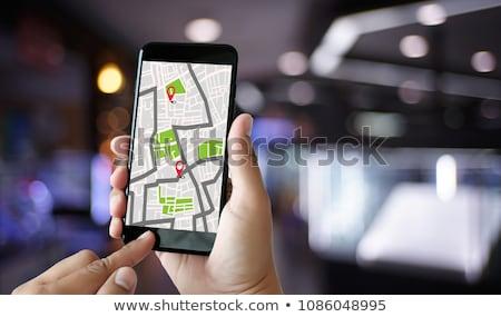 Keres helyszín online GPS térkép laptopot használ Stock fotó © AndreyPopov