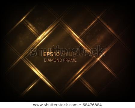 Diamond on glossy black background Stock photo © oneo
