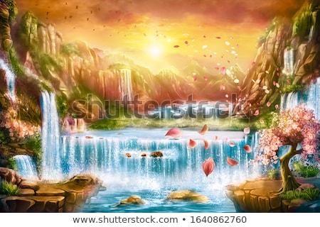 Foto stock: Paisagem · tibete · oração · rochas · água · montanha